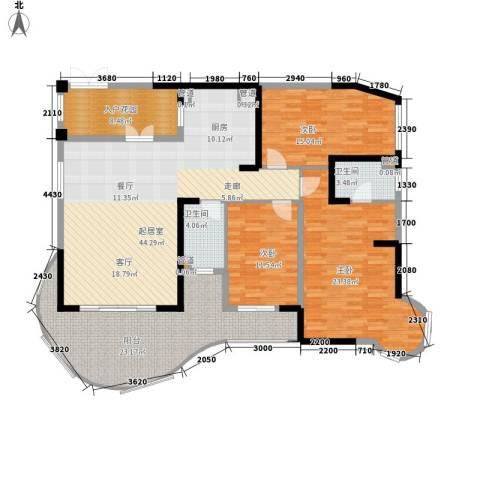 碧桂园十里银滩3室0厅2卫0厨133.99㎡户型图