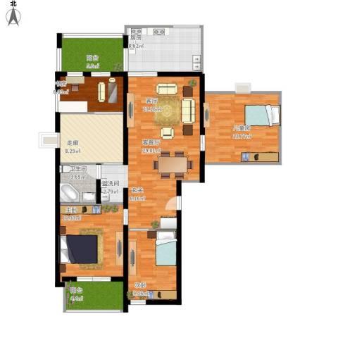 尧苑4室1厅1卫1厨142.00㎡户型图