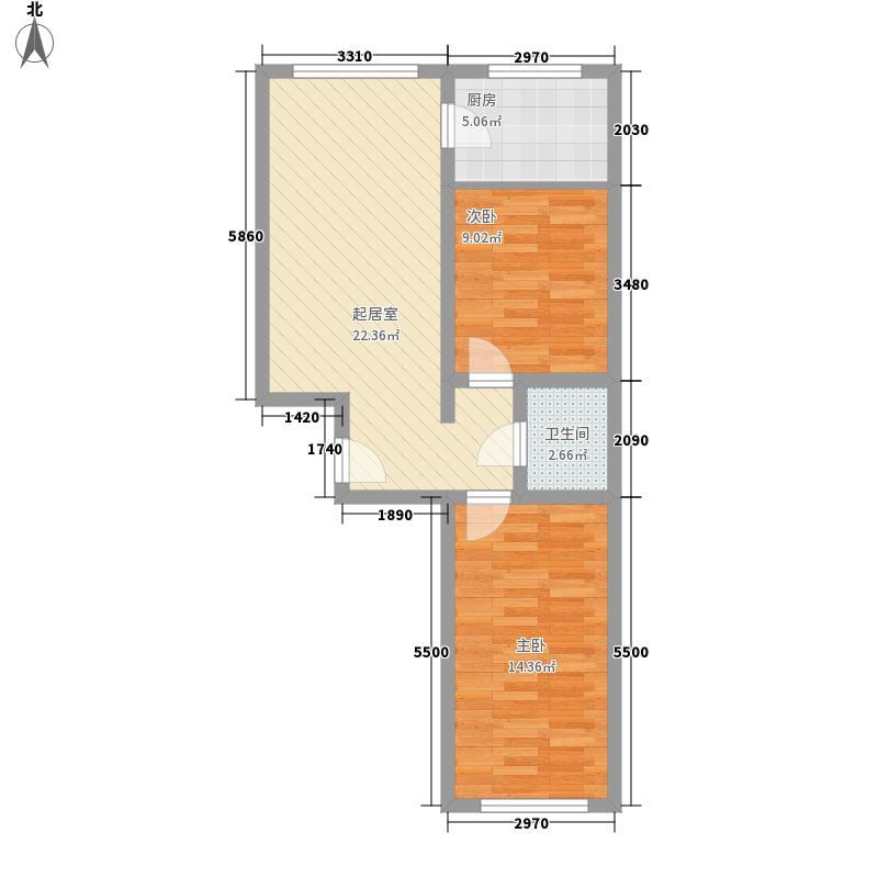 紫雅花园77.21㎡77.21户型2室1厅1卫1厨