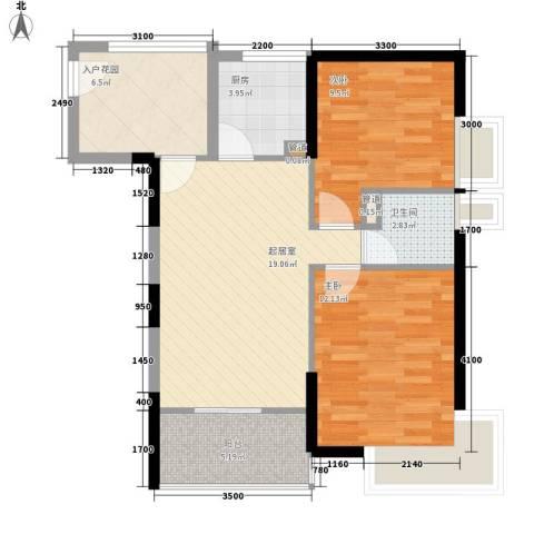 望族家园2室0厅1卫1厨101.00㎡户型图