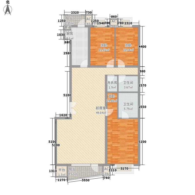 风林绿洲户型3室2厅2卫1厨