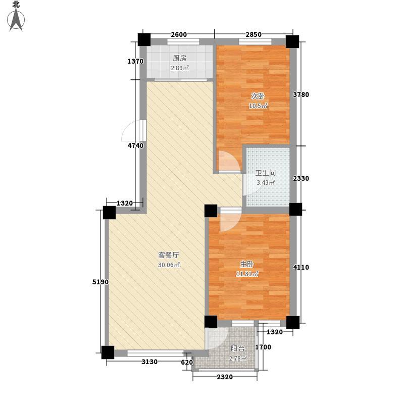 西郊棠梨园83.00㎡西郊棠梨园户型图2室2厅1卫1厨户型10室
