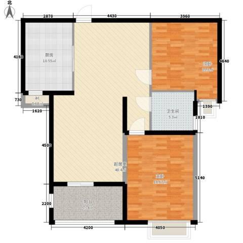 怡莲新城2室0厅1卫1厨98.65㎡户型图