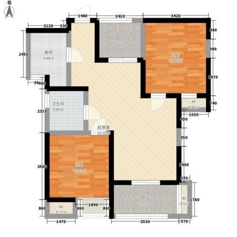 怡莲新城2室0厅1卫1厨123.00㎡户型图