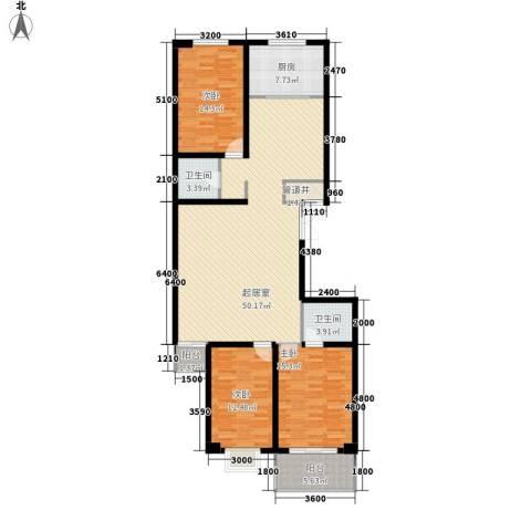 天和学府苑3室0厅2卫1厨157.00㎡户型图