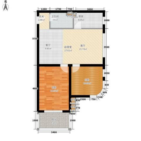 万方景轩2室0厅1卫1厨95.00㎡户型图