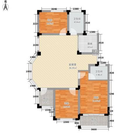 学墅丽邦3室0厅2卫1厨125.00㎡户型图
