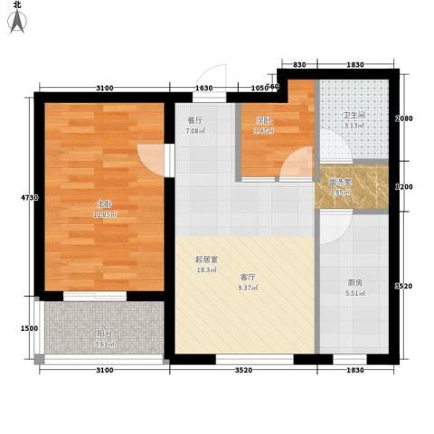 万枫家园2室0厅1卫1厨104.00㎡户型图