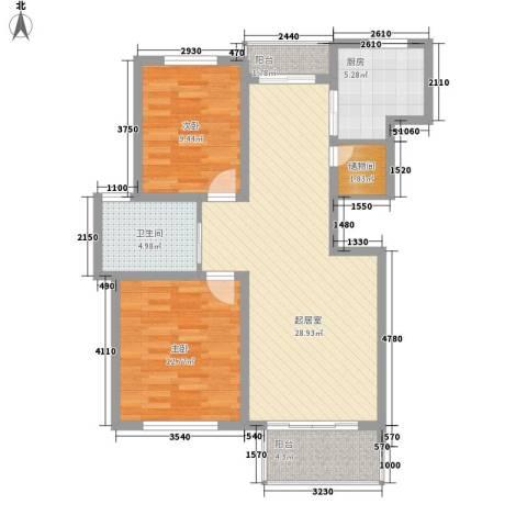 东苑新天地2室0厅1卫1厨100.00㎡户型图