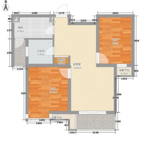东苑新天地2室0厅1卫1厨89.00㎡户型图