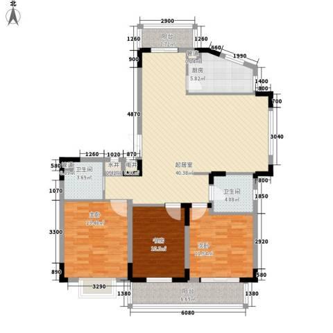 祥和人家3室0厅2卫1厨110.00㎡户型图