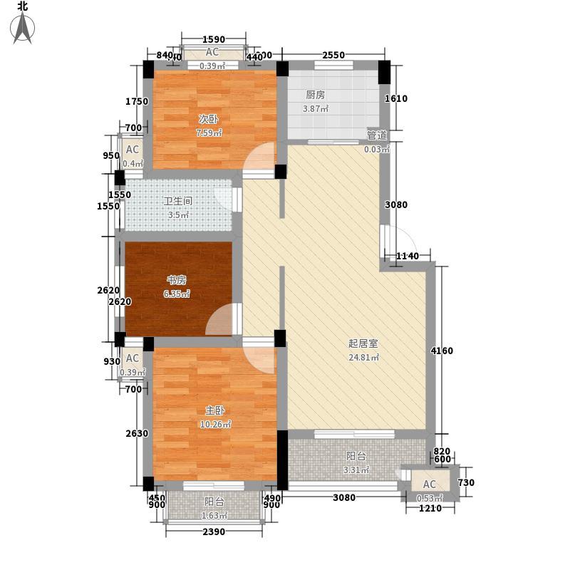 润和苑94.00㎡润和苑2室户型2室