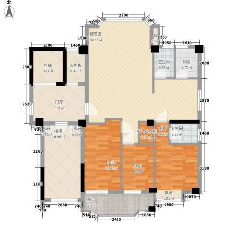 帝豪花园3室0厅2卫1厨150.00㎡户型图