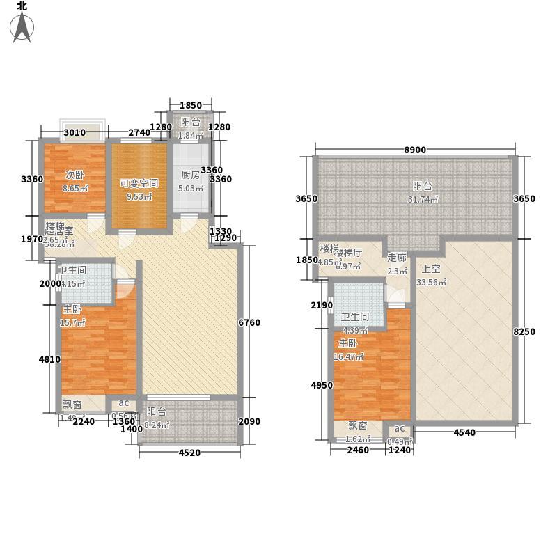 尚品观邸一期134.93㎡三房(可变四房)两厅两卫户型