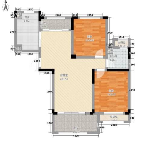 碧桂园滨湖城2室0厅1卫1厨113.00㎡户型图