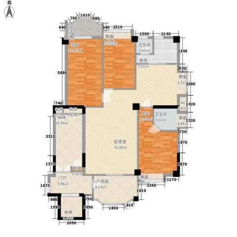 帝豪花园3室0厅2卫1厨183.00㎡户型图