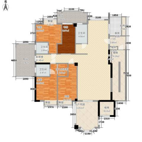帝豪花园4室0厅3卫1厨253.00㎡户型图