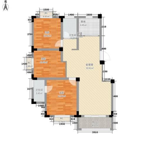 尚泽时代广场3室0厅2卫1厨105.00㎡户型图