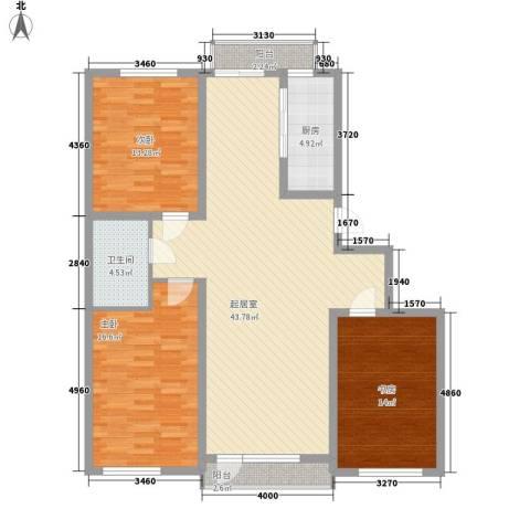 怡海花园3室0厅1卫1厨112.00㎡户型图