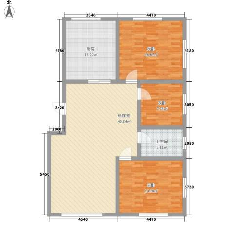 弘基书香园三期3室0厅1卫1厨138.00㎡户型图