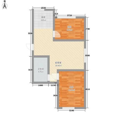 怡海花园2室0厅1卫0厨75.00㎡户型图