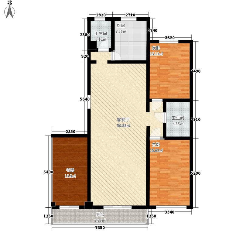 慧泽苑171.66㎡A户型3室2厅2卫1厨