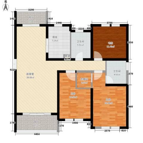 当代清水园3室0厅2卫1厨158.00㎡户型图