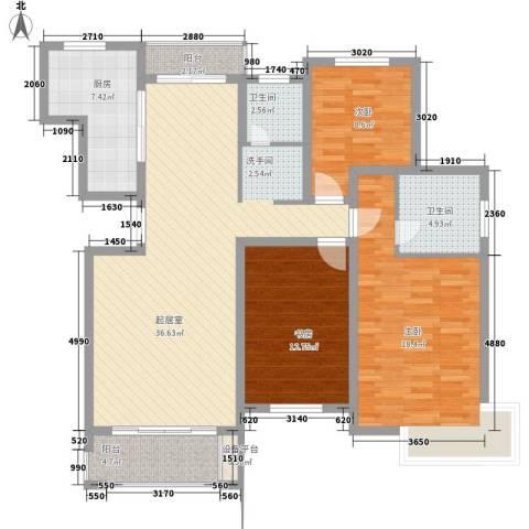 东苑新天地3室0厅2卫1厨142.00㎡户型图