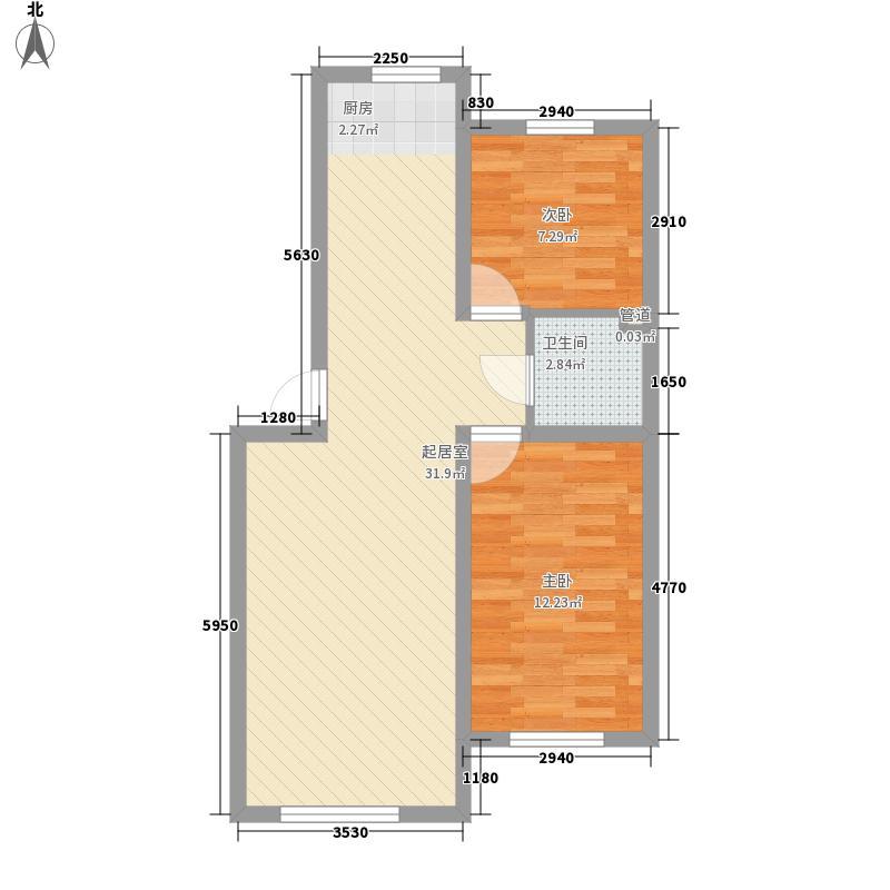 金石小区74.16㎡金石小区2室户型2室