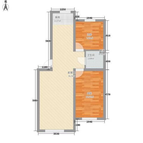 金石小区2室0厅1卫0厨61.75㎡户型图