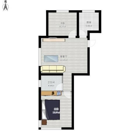 格林英郡2室1厅1卫1厨76.00㎡户型图