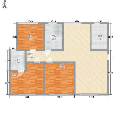 弘基书香园三期3室0厅2卫1厨150.00㎡户型图