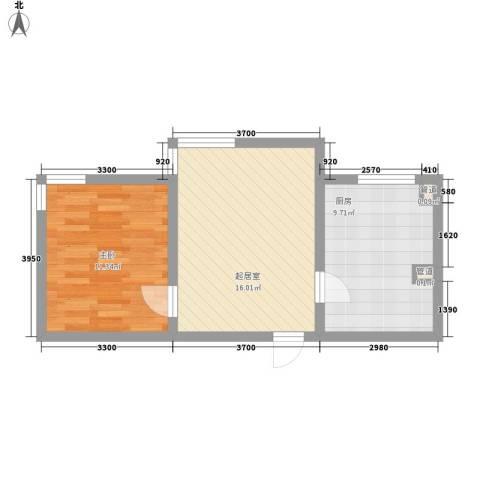 白马服装城1室0厅0卫1厨56.00㎡户型图