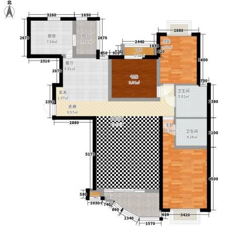 丽景琴园3室0厅2卫1厨150.00㎡户型图