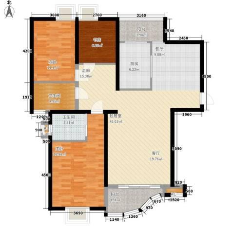 丽景琴园3室0厅2卫1厨148.00㎡户型图
