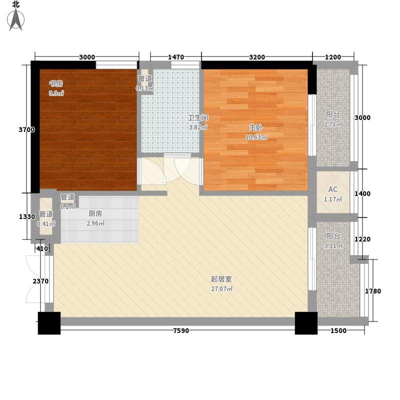 普君新城80.13㎡普君新城户型图15单元单间户型10室