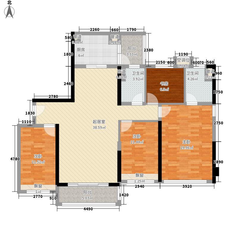 敏捷・金月湾142.00㎡敏捷・金月湾户型图14座01户型4室2厅2卫1厨户型4室2厅2卫1厨
