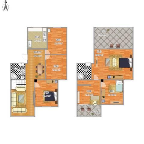 怡峰家园6室1厅2卫1厨228.00㎡户型图
