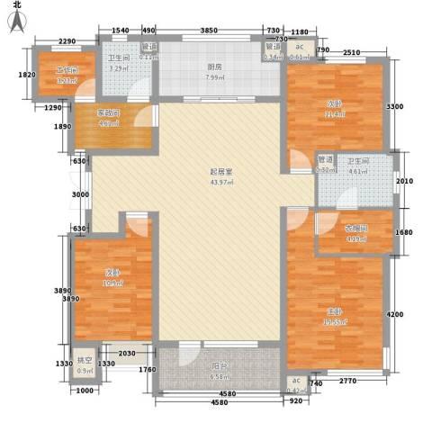 肿瘤医院家属楼3室0厅2卫1厨150.00㎡户型图