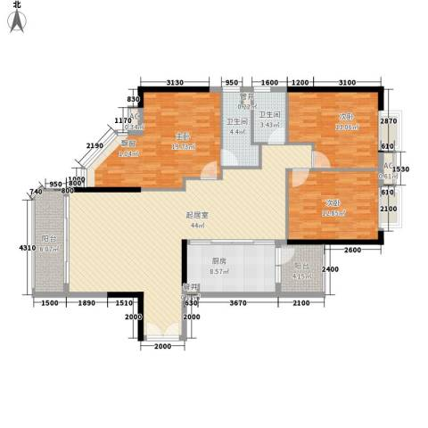东方国际星座3室0厅2卫1厨153.00㎡户型图