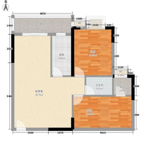 东方国际星座2室0厅1卫1厨99.00㎡户型图