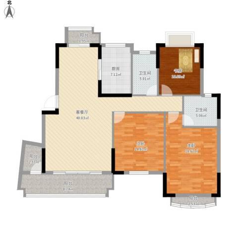 翠湖苑3室1厅2卫1厨163.00㎡户型图