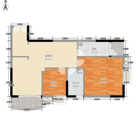 东方国际星座2室0厅1卫1厨103.00㎡户型图