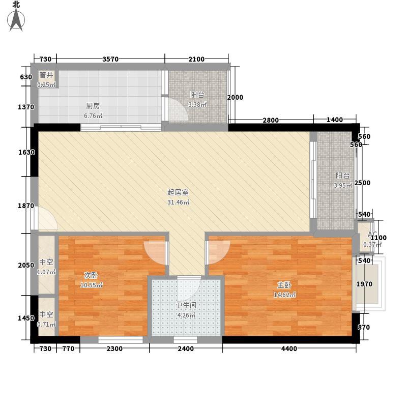 东方国际星座102.44㎡东方国际星座户型10室