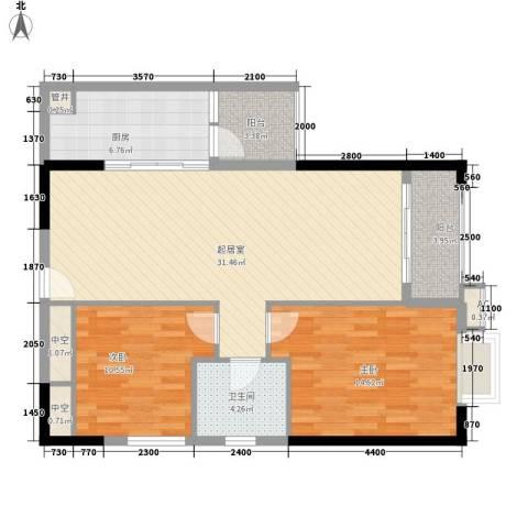 东方国际星座2室0厅1卫1厨102.00㎡户型图