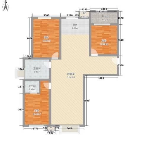 粮食厅宿舍3室0厅2卫0厨145.00㎡户型图