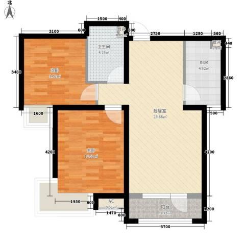 邮电小区2室0厅1卫1厨86.00㎡户型图