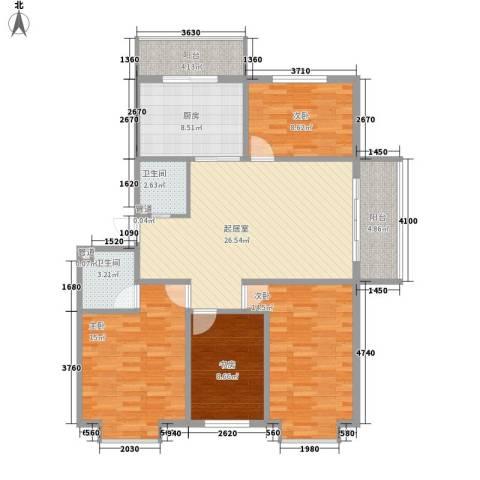 枫林时代4室0厅2卫1厨136.00㎡户型图
