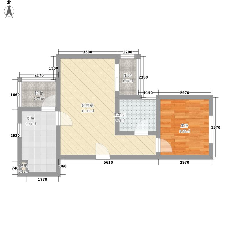 四季香榭54.96㎡四季香榭户型图1室1厅1卫1厨户型10室