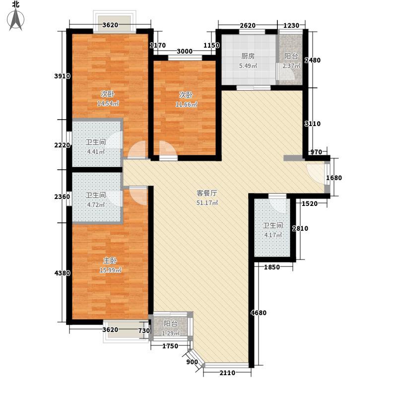 珠江帝景伯爵山户型3室2厅3卫1厨